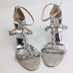Badgley Mischka Embellished High Heel Sandals